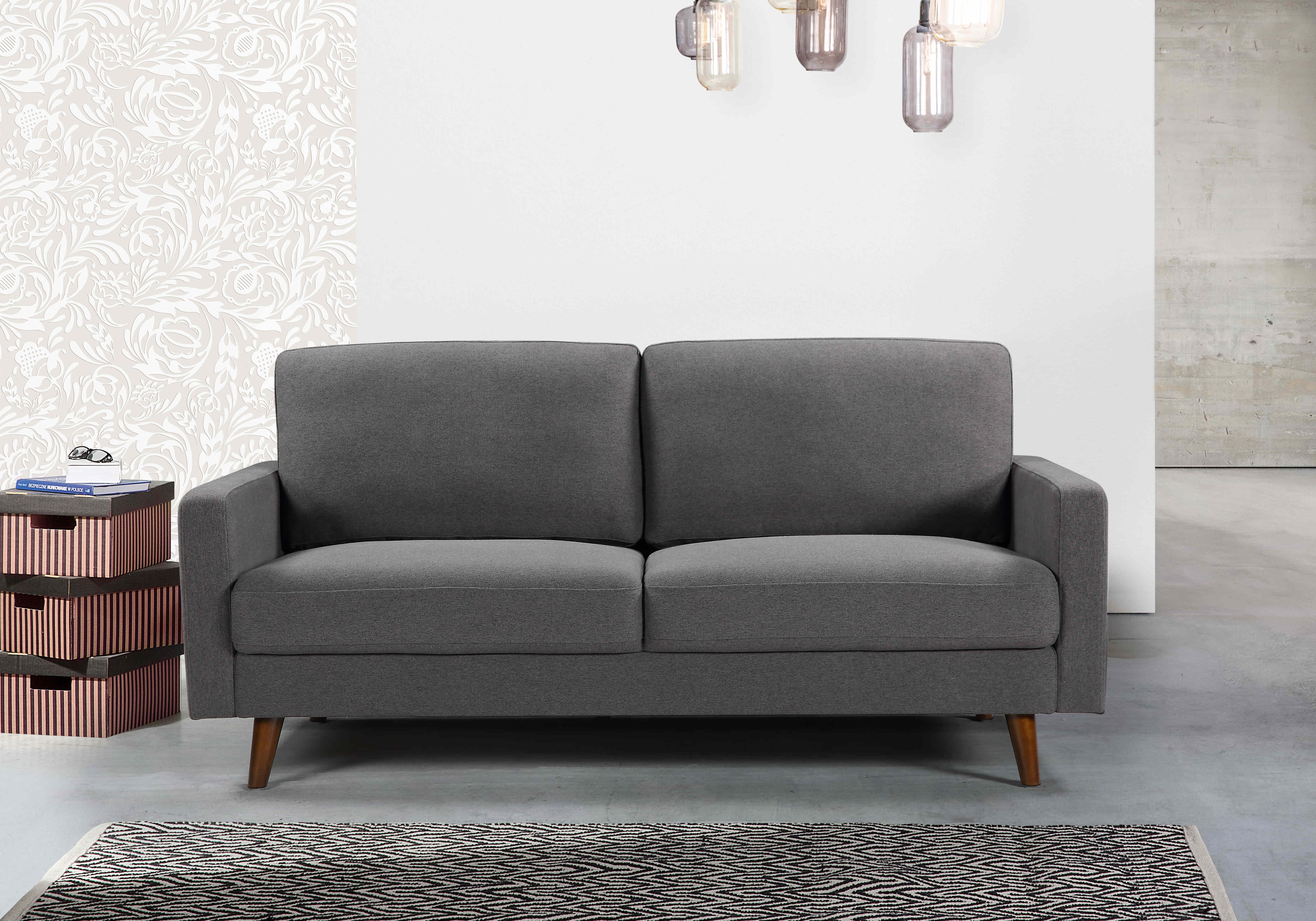 Valancy 4 Seater Couch Fabric/Faux Leather